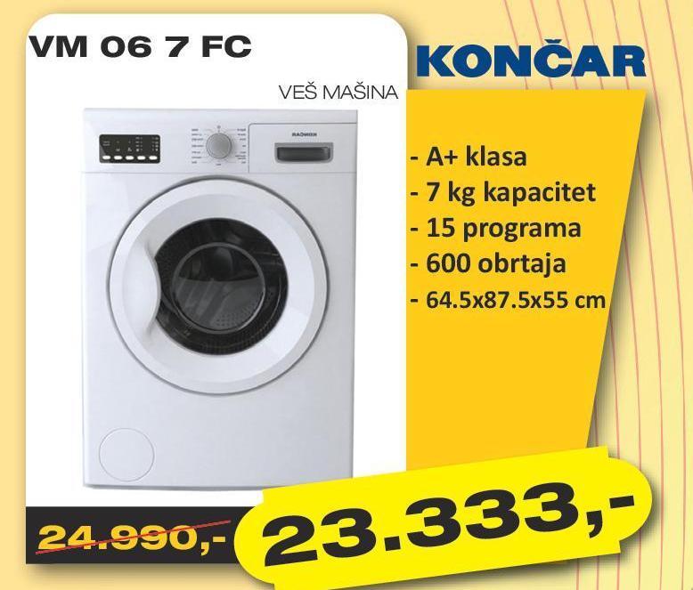 Mašina za pranje veša VM 06 7 FC