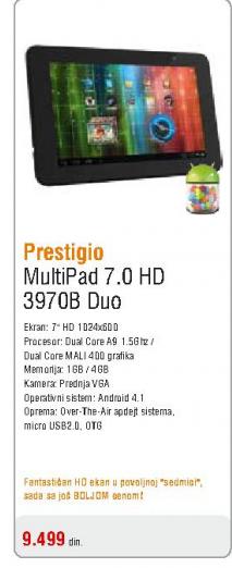 Tablet Multipad 7.0 HD, 3970B, Duo