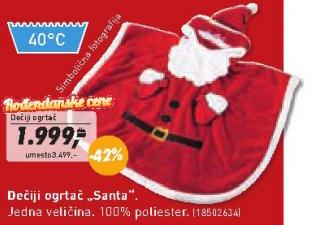 Dečiji ogrtač ''Santa''