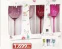 Set 4 staklene čaše za vino