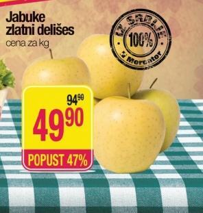 Jabuke zlatni delišes