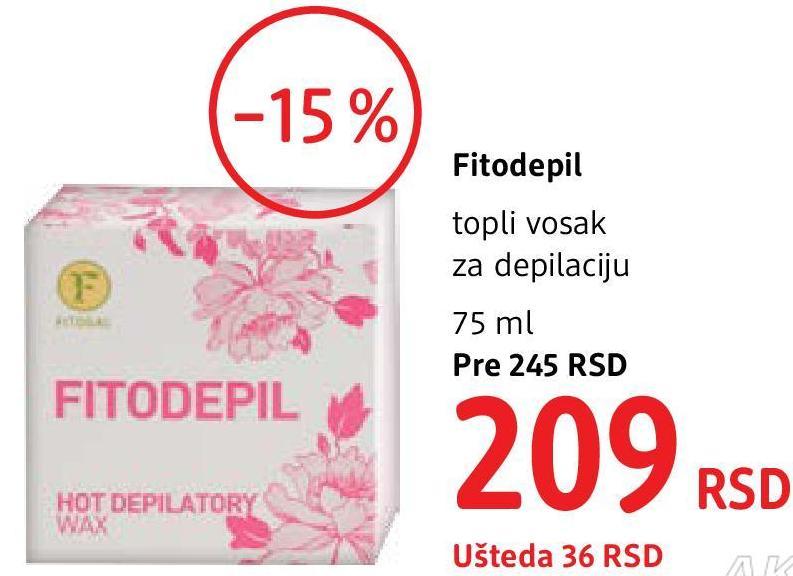 Topli vosak za depilaciju Fitodepil