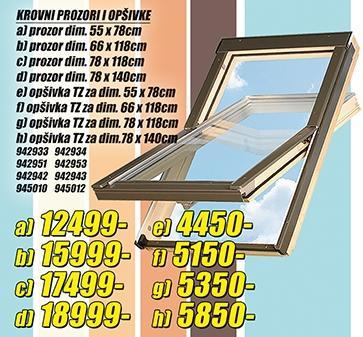 Krovni prozor 78x118cm
