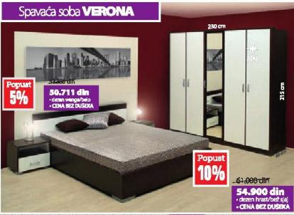 Spavaća soba VERONA wenge-belo