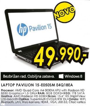 laptop Pavilion 15-E050SME4Q18EA