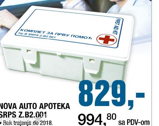 Nova auto apoteka SRPS Z.B2.001