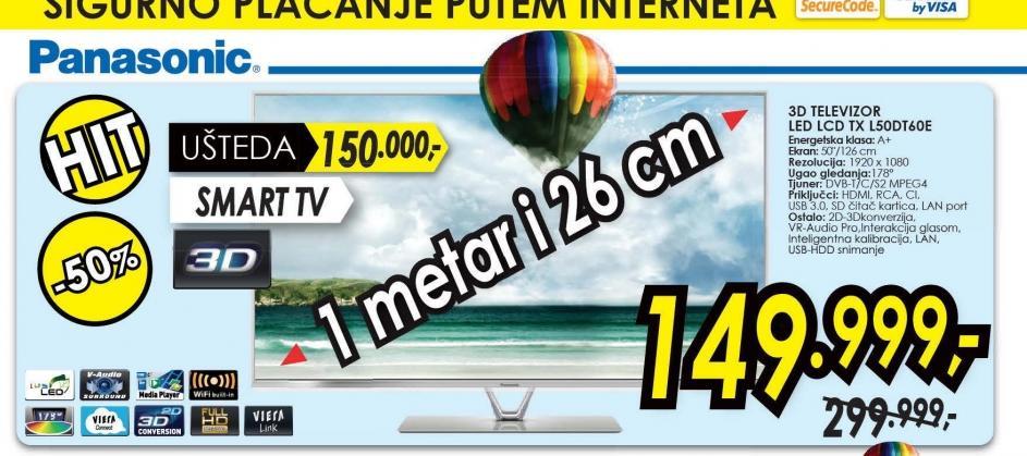 Televizor TX-L50DT60E