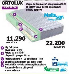 Dušek Ortolux 160x200cm