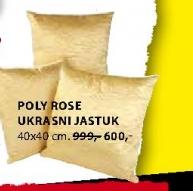 POLY ROSE UKRASNI JASTUK