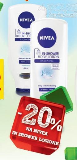 20% popusta na Nivea In Shower losione