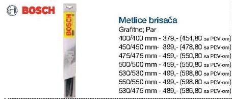 Metlice brisača 500/500mm