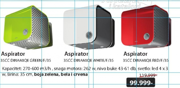 Aspirator 35CC DINAMIQUE GREEN/RED F/35  / EVOQUE WHITE F/35