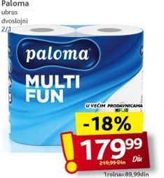 Papirni ubrus 2sl Multifun