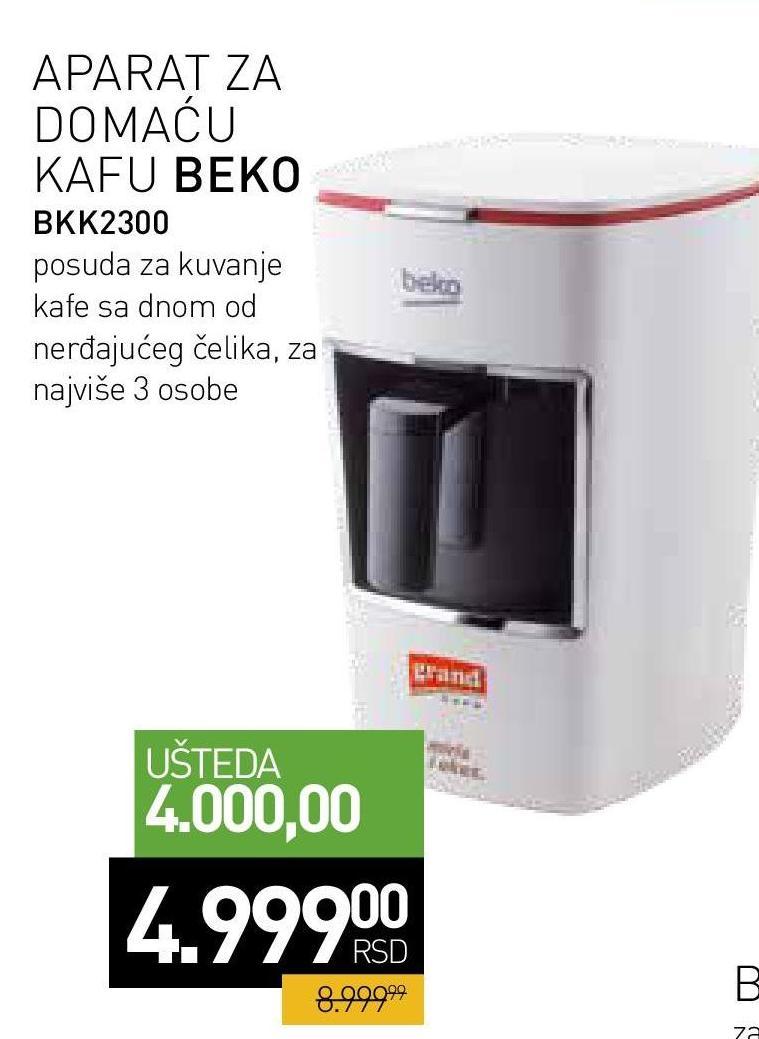 Aparat za kafu BKK 2300