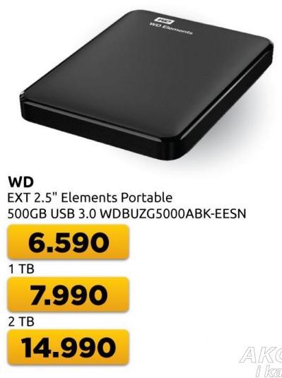 Eksterni hard disk WD Elements Portable 2TB