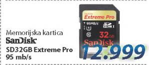 Memorijska kartica SD 32GB EXTREME PRO
