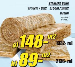 Staklena vuna 10cm