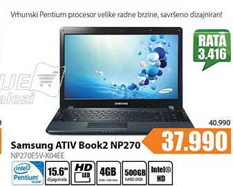 Laptop ATIV Book2 NP270  NP270E5V-K04EE