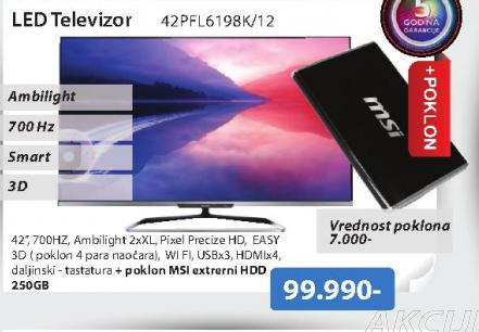 Televizor eDLED 42PFL6198K 12