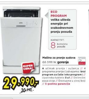 Mašina za pranje sudova GS 51111XC