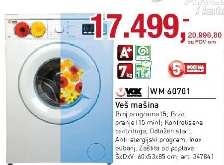 Veš mašina Wm 60701