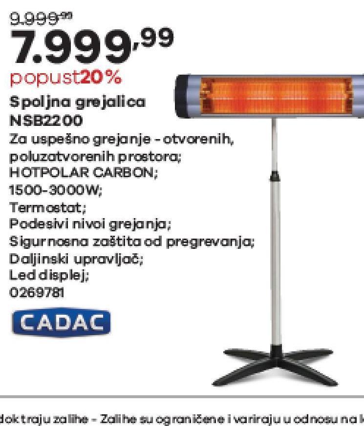 Grejalica Carbon NSB2200