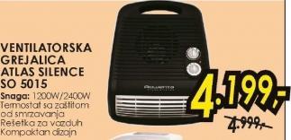 Ventilatorska Grejalica Atlas Silence SO 5015