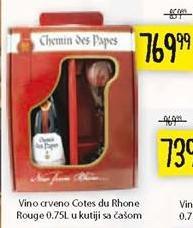 Crno vino Cotes du Rhone Rouge