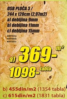 OSB ploča 3 15mm