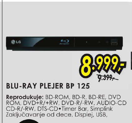 BLU RAY PLEJER BP 125