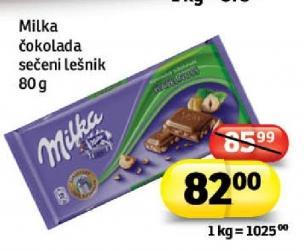 Čokolada lomljeni lešnik