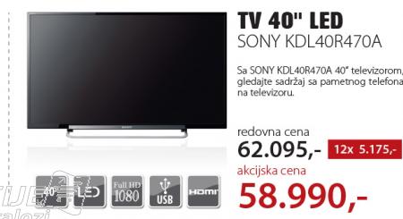 Televizor LED LCD KDL40R470A