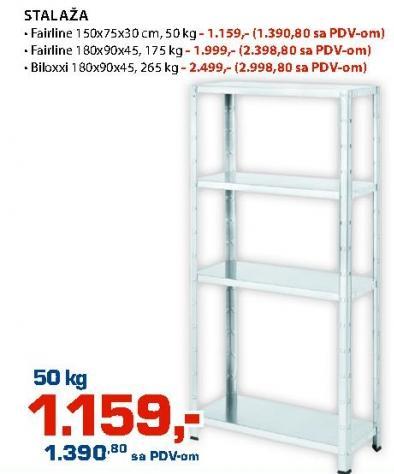 Stalaža 150x75x30