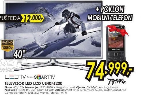 """Televizor LED 40"""" 3D UE40F6200"""