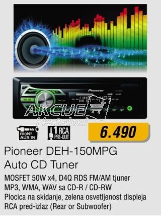 Auto CD Tuner Deh-150Mpg