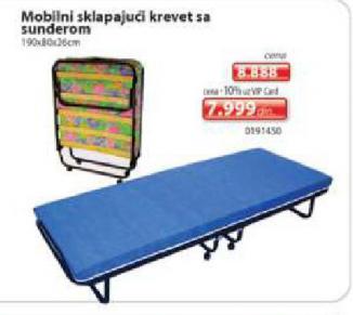 Mobilni sklapajući krevet sa sunđerom