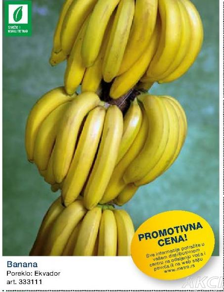 Promotivna cena banana