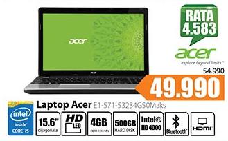 Laptop Aspire E1-571-53234G50Maks