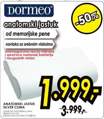 Anatomski jastuk Silver Clima