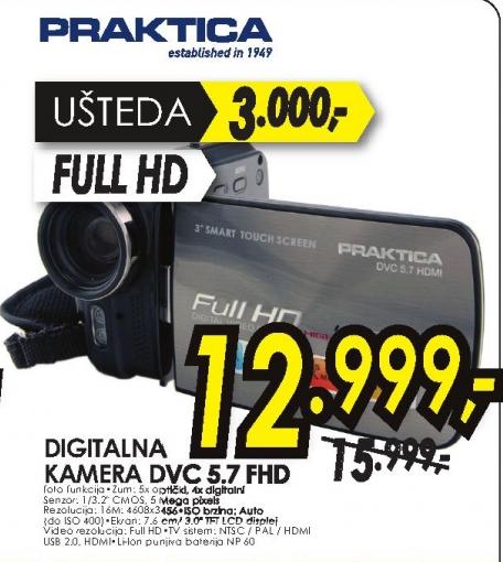 Digitalna kamera DVC 5.7 FHD