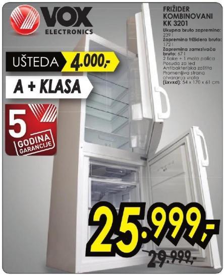 Kombinovani frižider Kk 3201