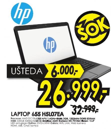 Laptop 655 H5L07EA