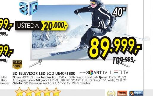 Televizor LED UE-40F6400
