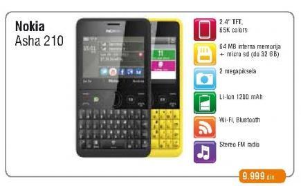 Mobilni telefon Asha 210