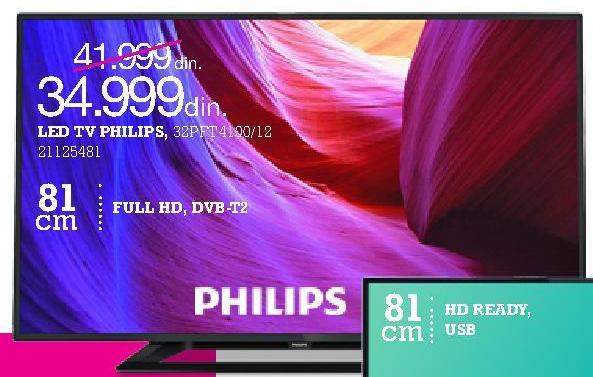 """Televizor LED 32"""" 32PFT4100/12"""