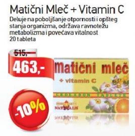 Matični mleč i vitamin C