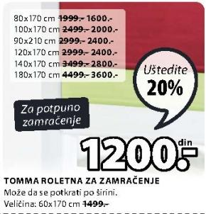 Roletna Tomma 120x170cm