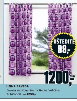 Zavesa Unna