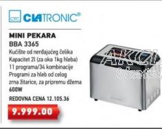 Mini Pekara BBA 3365