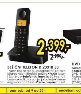 Bežični telefon D 2001B/53